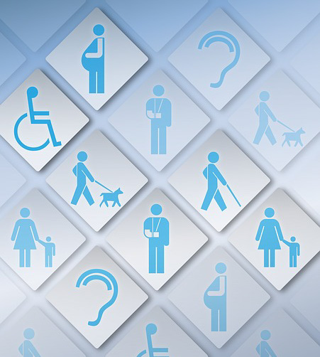access image showing pictures of various handicap icons